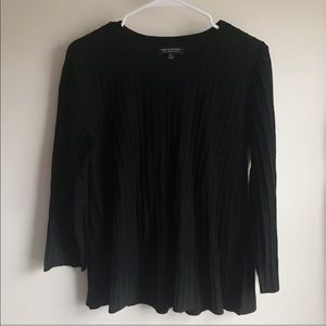 Banana Republic Black Merino Wool Pintuck Sweater